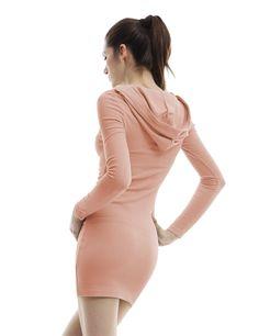 Doublju Womens Long Sleeve Hoodie Dress
