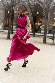 fuxia dress