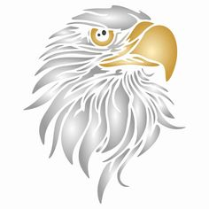 Eagle Head Stencil Animal Stencil, Bird Stencil, Wallpaper Stencil, Eagle Head, Pet Birds, Diy Home Decor, Stencils, Walls, Craft Ideas