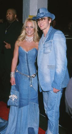 Idea for couples' Halloween costumes. Brittney and Justin Timberlake.  Wow.  Extra credit if you can find a denim cowboy hat.