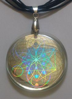 Emf protection sacred geometry hologram pendant by emfshield my emf protection hologram pendant aloadofball Choice Image
