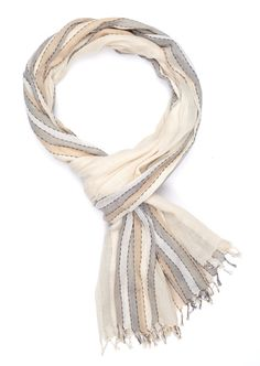 This incredibly soft cotton scarf used no energy to be brought into life - all of our products are hand-woven and therefore require no