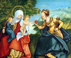 Hans Leonhard Schäufelein (Scheufelin) - Die Heilige Anna Selbdritt und die Heilige Ursula