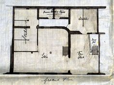 Plan of Walter & Lynn's stables, Foundry Street, Brighton, drawn prior to redevelopment in 1895. Image courtesy of the East Sussex Record Office from the MyHouseMyStreet project.