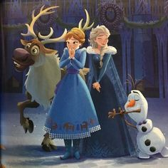 Look at Anna face! Iam sure she is doing that for kristoff