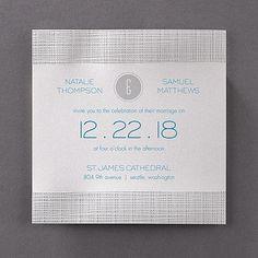 Modern Texture Invitation - Wedding Invitations - Wedding Invites - Wedding Invitation Ideas - View a Proof Online - #weddings #wedding #invitations