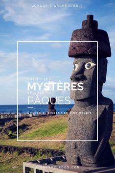 Dossier spécial voyage & archéologie à l'ile de Pâques ! Cap sur le bout du monde avec cette ile du Chili pleine de mystères ! D'où vient ce peuple ? Comment et pourquoi a-t-il disparu ? Comment ont-ils fabriqué et déplacé les moaïs, ces géants de pierre ? Ont-ils été en contact avec les Incas du Pérou ? Tant de questions qui flottent encore autour de l'ile de Pâques ! Chili Voyage, Easter Island, Questions, Travel With Kids, Chile, Unesco, Blog, Costumes, Chili