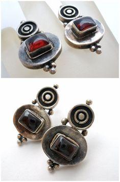 Sterling Silver Garnet Earrings Dangle Drop Pierced 925 Red Gemstones Vintage | Jewelry & Watches, Fine Jewelry, Fine Earrings | eBay!