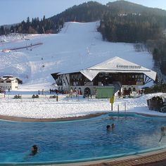 Ski or thermal? You have the choice, if you buy a BKK/St. Carinthia, Joy Of Living, Sauna, Travel Memories, Alps, Skiing, Relax, Bath, Mansions