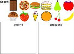 Kinderen leren over gezond en ongezond eten