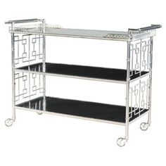 Check out this item at One Kings Lane! Cheers Mirrored Bar Cart, Silver