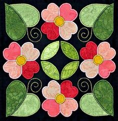 affairs of the heart quilt pattern   Affairs of the Heart Applique Quilt Kit: