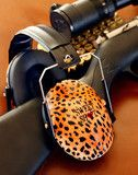 Leopard ear muffs for Lady shooters.  Why not look cute while you shoot?