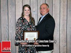 Excellence In Ag Runner-Up Samantha Carpenter of Limestone County Young Farmers, Create Awareness, Carpenter, Alabama, Leadership