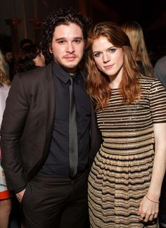 Game of Thrones - Kit Harrington & Rose Leslie - Something about actors dating on the set that is so cute.