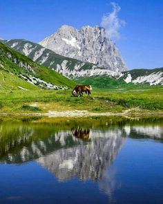 Gran Sasso d'Abruzzo, the highest italian peak not including the Alps, from Campo Imperatore