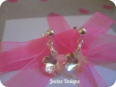 Flower Girl Earrings AB Swarovski Flower Crystal by JewlesDesigns, $19.00