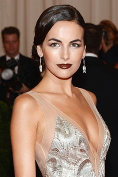 Camilla Belle dark make up lipstick lips 1920s hair art deco roaring twenties wedding vintage 20s