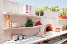 awesome product from the Netherlands - modular concrete outdoor kitchen and shower