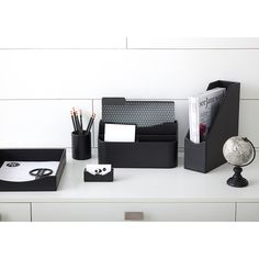 See Jane Work Black Faux Leather Desk Accessories, simple and sophisticated for an instantly organized, instantly stylish workspace. Desk Supplies, Full Figured Women, Plus Size Beauty, Business Card Holders, Office Organization, Staying Organized, Desk Accessories, How To Stay Motivated, Black Faux Leather