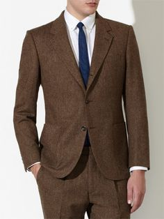 John Lewis & Co. Tailored Bennett Donegal Three Piece Suit by Moon