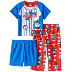 Thomas the Train and Friends Boys 3 piece Pajamas Set (3T, Team Thomas Blue/Red) ** More info could be found at the image url.(It is Amazon affiliate link) #nature