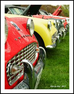 Triumphs in a Row - British cars - by  Harris Hui, via flickr