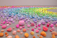 We've posted about Pip and Pop's (a.k.a. Tanya Schultz') candy-luscious art before. She uses nontraditional materials like sugar, glitter, and plastic...
