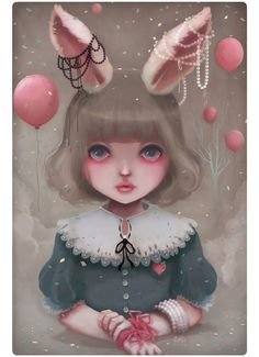 Juliette, balloons & pearls. by Ludovic Jacqz