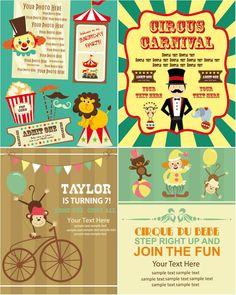 Cartoon Circus poster vector