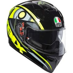 SV Solun Street Motorcycle Riding Helmet All Sizes Agv Helmets, Motorcycle Helmets, Riding Helmets, Vr46, Valentino Rossi, Street Bikes, Black N Yellow, All The Colors, Unisex