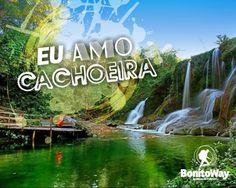 Para quem ama cachoeira!  Foto: Parque das Cachoeiras - Bonito/MS  #euamocachoeira