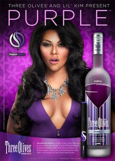 three olives vodka and lil kim Facebook Banner, Queen Bees, Hot Girls, Alcohol, Purple, Nature, Image, Vodka, Pears