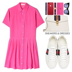 """""""off 428"""" by juuliap ❤ liked on Polyvore featuring Equipment, Gucci, Estée Lauder, Cushnie Et Ochs and Chanel"""