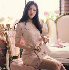 長袖洋裝 | 『Milkcocoa 』正韓代購 官網驗證 優雅蕾絲下擺洋裝-MISS MISA | Yahoo拍賣