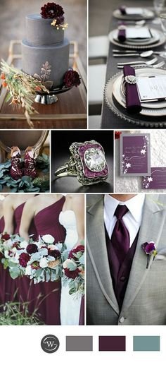 Grey and plum palette