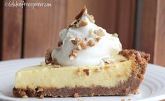 Gluten Free Spinner: Key Lime Pie with Ginger Crust. Gluten Free but not very healthy