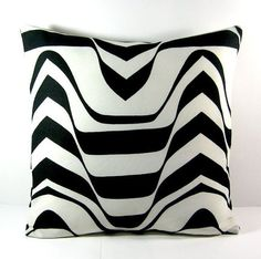 16X16 Black and White Decorative Throw Pillow cover