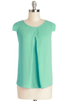 Jetsetter's Jewel Top in Mint | Mod Retro Vintage Short Sleeve Shirts | ModCloth.com