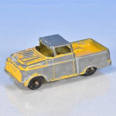 Ford Pickup Tootsietoy 1960s Yellow Approximately 3 inches long