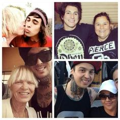 Pierce the veil with there mommys <3