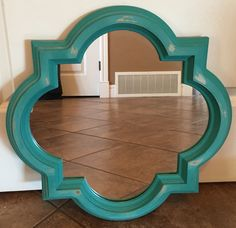 "Quatrefoil mirror, painted in ""Peacock"" FAT paint  ~The Decor Vault~ www.facebook.com/thedecorvault"