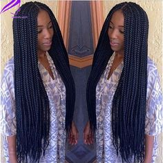 long box braids - Google Search