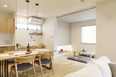 Muji Home, Natural Interior, Minimal Home, Dream Rooms, Kitchen Dining, Minimalism, Living Room, Modern, Table