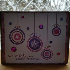 Christmas card I made using Simon Says Stamp's stamp set, Presents and Ornaments. So cute! Sheena Joy - Joy's Studio Creations