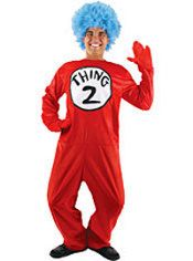 Adult Thing 1 and Thing 2 Costume Deluxe - The Cat in the Hat