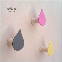 """Raindrop"""" Wall Hooks (to make myself…not with foam but with mirrors? Kids Furniture, Furniture Decor, Girls Bedroom, Bedrooms, Toddler Rooms, Bathroom Kids, Kidsroom, Toddler Fashion, Wall Hooks"""