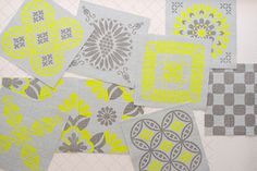 Beautiful textile 'tiles' you sew into your own creation