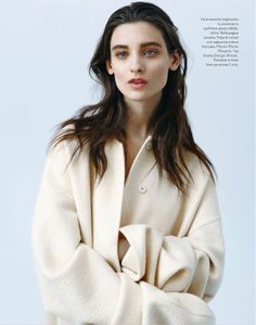 visual optimism; fashion editorials, shows, campaigns & more!: white: carolina thaler by laurence ellis for amica september 2013