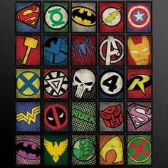 Set of 8 Superhero Kids Wall Art Decor by TheCuttingEdgeShop